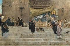 Francesco Paolo Michetti. La Processione del Corpus Domini a Chieti, 1877 - Tecnica: Olio su Tela, 100 x 200 cm