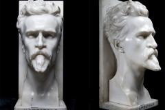 Arrigo Minerbi, L'apostolo | Marmo, 49,5 x 21,5 x 26 cm. Firmato Arrigo Minerbi 1922