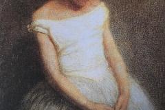 Giovane ballerina a riposo - Olio su tela 95x60 cm