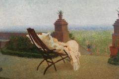 Giovinetta malata, 1984 - Olio su tela, 75x110 cm