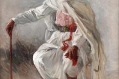 Arabo seduto - Olio su tela, 72x52 cm