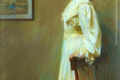"""Arturo Noci. Ritratto in Giallo - Tecnica: Pastello su Carta, 133,5 x 94,5 cm. Firmato e datato in basso a sinistra """"Arturo Noci Roma 1905"""""""