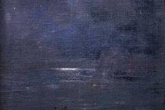 Plinio Nomellini. Pesca Notturna - Tecnica: Olio su Tela, 155 x 85 cm. Firma in basso a destra