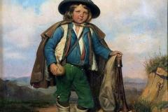 Palizzi Filippo - Pastorello abruzzese. Olio su tela, 65 x 51 cm