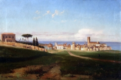 Palizzi Nicola - Veduta di Vasto, 1853. Olio su tela, 35,9 x 54,9 cm