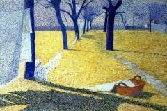 Giuseppe Pellizza da Volpedo. Panni al sole | Tecnica: olio su tela, 81 x 131 cm