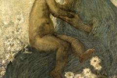 Gaetano Previati, Amore materno | Tecnica: olio su tela