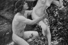 Cesare Saccaggi. Apollo e Dafne - Tecnica: Olio su Tela. Esposto alla Biennale di Venezia del 1910