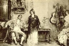 Pablo Salinas y Teruel. Il Torero - Tecnica: Olio su Tavola, 40 x 24 cm