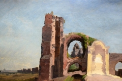 Pietro Sassi. Fontana a Porta Furba- Tecnica. Olio su Cartone, 27 x 44 cm