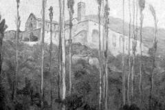 Ferruccio Scattola. Il Convento di Santa Chiara - Tecnica: Olio su tela