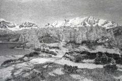 Gottardo Segantini. Ottobre Alpestre - Tecnica: Olio su Tela, 113 x 166 cm