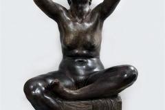 """Attilio Selva - Ritmi, 1921 ca. - Scultura in gesso patinato, 153 x 73 x 63 cm. Siglata sulla base """"A. S."""""""