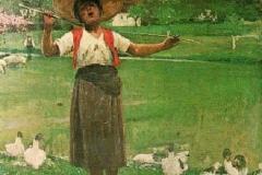Luigi Serena. La Pastorella - Tecnica: Olio su Tela