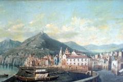 Giovanni Serritelli. Veduta napoletana - Olio su tela
