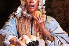 Giuseppe Signorini - La Venditrice di Frutta