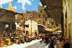 Telemaco Signorini. Giorno di sole al vecchio mercato. 1881-83