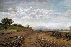Telemaco Signorini. Mattino sull'Arno (Renaioli), 1868