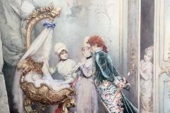 Attilio Simonetti. Gioia Materna | Acquarello su Carta, 63,5 x 46,5 cm