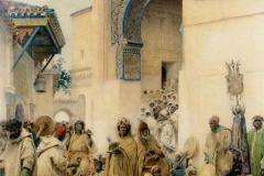 Gustavo Simoni - Africani che Danzano in un Cortile