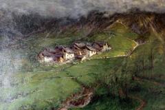 Arnaldo Soldini. Paesaggio Alpestre - Olio su tela 100 x 130 cm