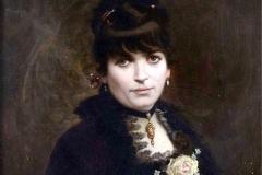 Luigi Sorio. Ritratto femminile - Olio su tela 72 x 57 cm