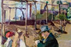 Armando Spadini. Nell'orto - Olio su tela, 46,5 x 66,5 cm