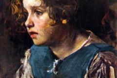 Cesare Tallone. Lucy (Studio) - Tempera su Carta
