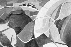 Tato. Paesaggio Aereo - Tecnica: Olio su tela