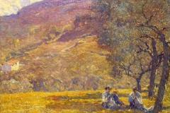 Lodovico Tommasi. Cucitrici a Fiesole - Olio su Tela, 57 x 69 cm