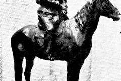 Paolo Troubetzkoy. Tolstoj a Cavallo - Tecnica: Bronzo