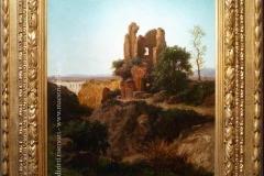 Achille Vertunni. Rovine nei pressi di Civita Castellana | Tecnica: olio su tela