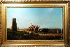 Achille Vertunni. Sulla via Appia | Tecnica: olio su tela