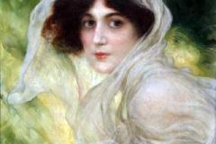 Carlo Wostry - Ritratto di Giovane Donna