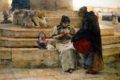 Alessandro Zezzos - Una Fioraia a Venezia