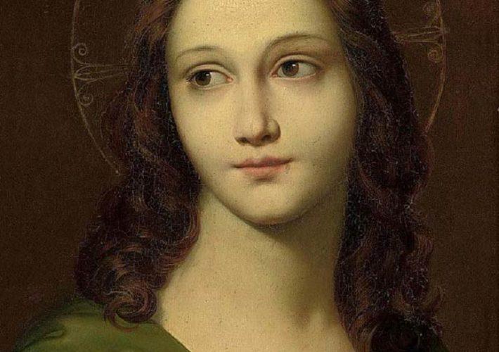 Filippo Agricola - Cristo giovane, 1814. Olio su tavola, 44,2 x 33,6 cm