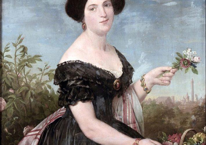 Clemente Alberi. Ritratto di signora, 1853. Olio su tela, 114 x 87 cm