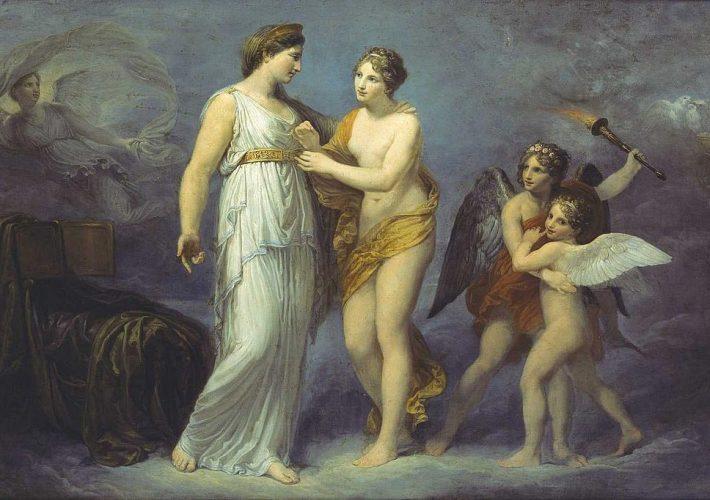 Andrea Appiani - Venere allaccia il cinto a Giunone, 1810-12. Olio su tela, 100 x 142 cm