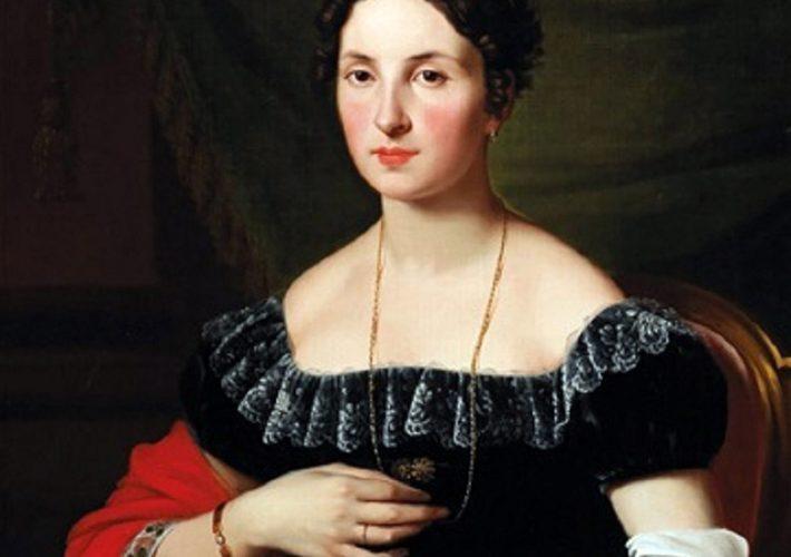 Pietro Ayres - Ritratto di Adele Elisabeth von Frantzius, 1821. Olio su tela, 84 x 64,5 cm