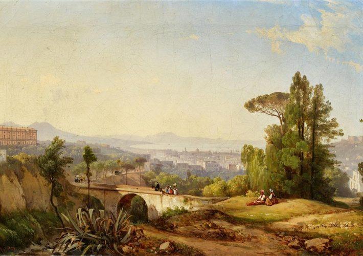 Giacinto Gigante. La Baia di Napoli con il Vesuvio sullo Sfondo