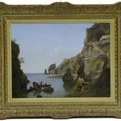 Antonio Marinoni. Cappuccini sulla spiaggia della Marinella, 1850 ca.