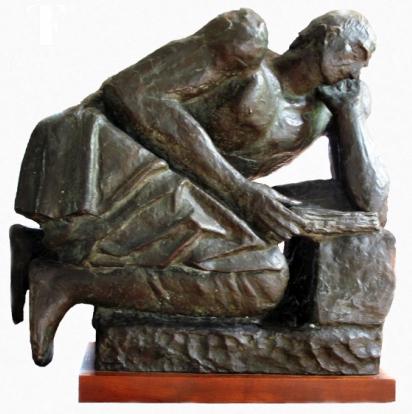 Arturo Martini. Tito Livio, 1942. Bronzo, 49,5x 51x27 cm