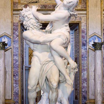 Gian Lorenzo Bernini. Il Ratto di Proserpina, 1621 – 1622. Gruppo scultoreo realizzato in marmo. Galleria Borghese, Roma