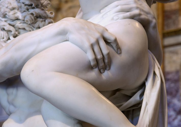 Gian Lorenzo Bernini.Il Ratto di Proserpina, 1621 – 1622 (dettaglio). Gruppo scultoreo realizzato in marmo. Galleria Borghese, Roma