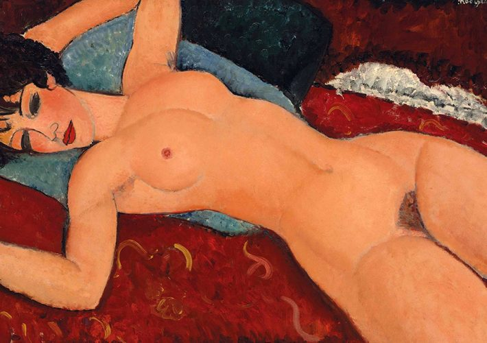 Amedeo Modigliani. Grande nudo disteso, 1917. Olio su tela, 73×116 cm.