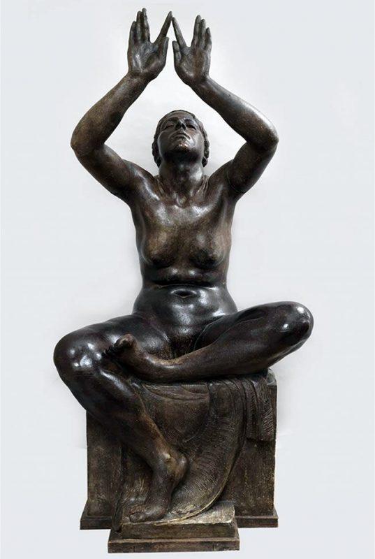 Attilio Selva. Ritmi, 1921 ca. Scultura in gesso patinato, 153 x 73 x 63 cm