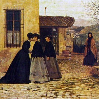 Silvestro Lega. La visita, 1868. Roma, Galleria d'Arte Moderna