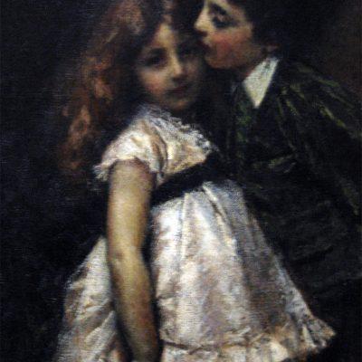 Tranquillo Cremona, I due cugini, 1870. Roma, Galleria Nazionale d'Arte Moderna e Contemporanea