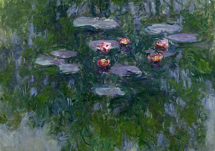 Claude Monet. Ninfee, 1916-1919. Olio su tela, 130x152 cm. Parigi, Musée Marmottan Monet © Musée Marmottan Monet