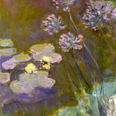 Claude Monet. Ninfee e Agapanti, 1914-1917. Olio su tela, cm 140x120. Parigi, Museée Marmottan Monet